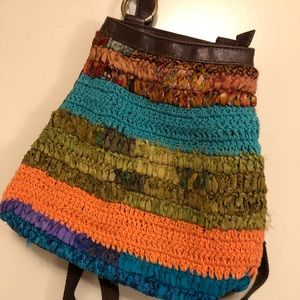 Lucky Brand multi-color woven backpack